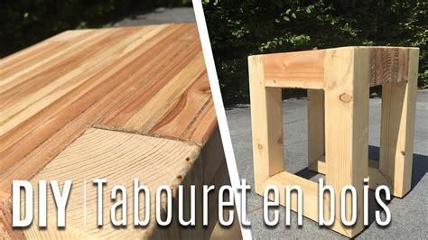 fabriquer un tabouret table de nuit avec du bois de