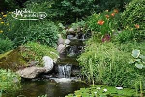 Fontaine Cascade Bassin : cascade et jardin d eau jardins aquadesign ~ Premium-room.com Idées de Décoration