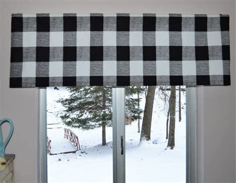 Black And White Valance by Black And White Buffalo Plaid Valance Premier Prints