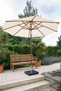 Sonnenschirm Aus Holz : zebra sonnenschirm volta 3 5m rund holz schirm i3farb art jardin ~ Frokenaadalensverden.com Haus und Dekorationen