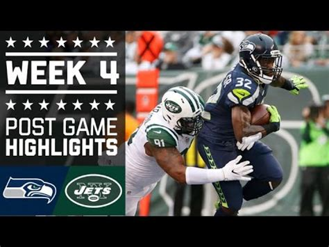 seahawks  jets nfl week  game highlights youtube