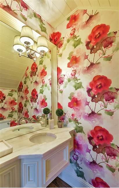 Hgtv Floral Bathroom Powder Bold Feminine Walls