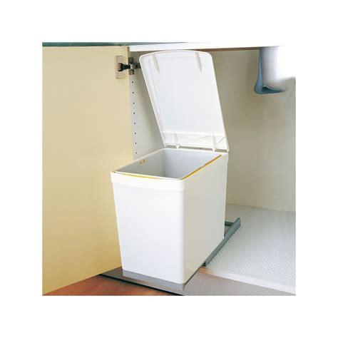 poubelle pour cuisine poubelle rectangulaire 1 bac 16l blanc