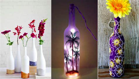 bureau simple 12 idées pour relooker vos bouteilles en verre en objets
