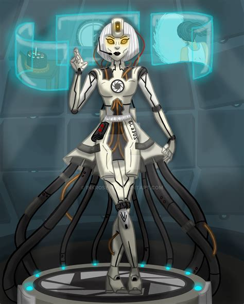 humanoid glados by inkrose98 on deviantart