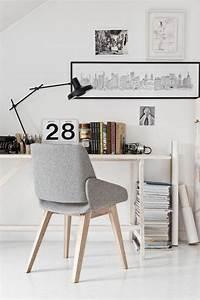 Chaise De Bureau Scandinave : am nagement d 39 un petit espace de travail le bureau style scandinave ~ Teatrodelosmanantiales.com Idées de Décoration