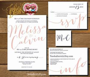 printable wedding invitation suite w0321 consists of With wedding invitations rsvp and information