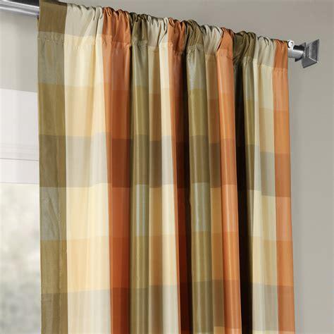 Silk Plaid Drapes - buy cumbria faux silk plaid curtain