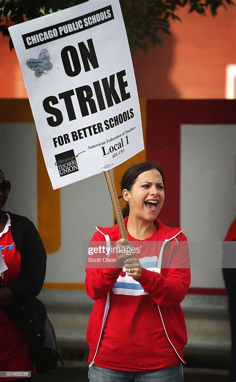 chicago s union strike continues getty images 386 | rebecca gonzalez a preschool teacher pickets outside burr elementary picture id151958238