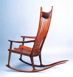 sam maloof rocking chair inspiration woodworking