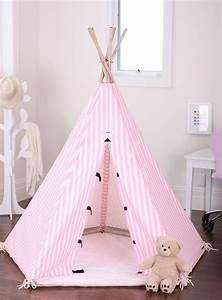 Tipi Bebe Fille : new kids childrens play house indoor pink tent teepee teepees tipi fort house tent and kid ~ Teatrodelosmanantiales.com Idées de Décoration