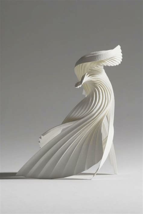 beautifully crafted  paper sculptures   precise