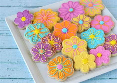Summer Flower Decorated Cookies  Glorious Treats
