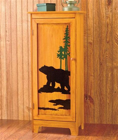 Deer Cabinets by Rustic Wildlife Storage Cabinet Deer Or Lodge Cabin