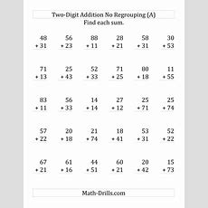 2digit Addition With No Regrouping (lp
