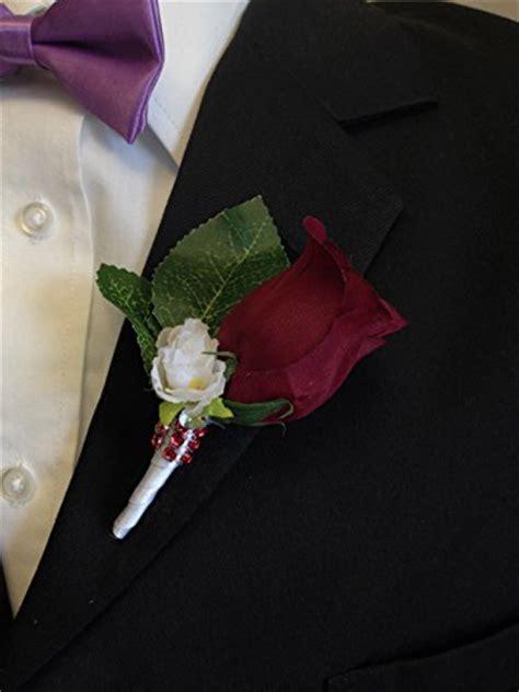 angel isabella boutonniere burgundy rosebud  mini