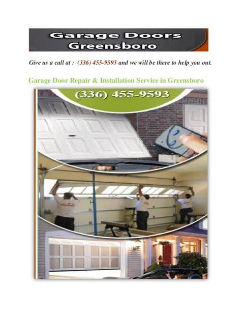 garage door installation service garage door repair installation service in greensboro