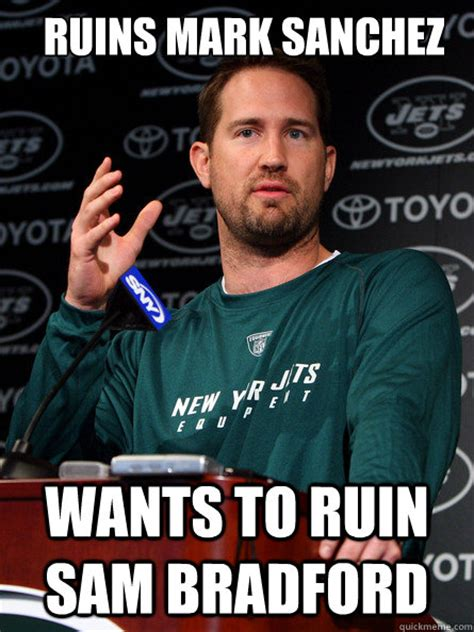Mark Sanchez Memes - deep in own territory have one receiver running route scumbag schotty quickmeme
