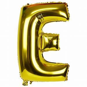 30quot foil mylar balloon gold letter e for Gold letter balloons