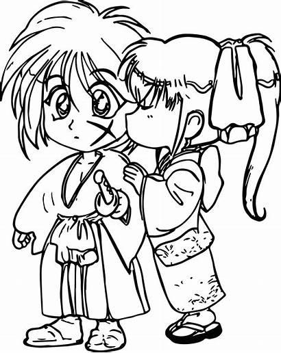 Coloring Kiss Pages Boy Anime Drawing Manga