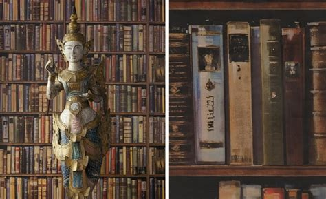 bookshelf wallpaper   instant library feel