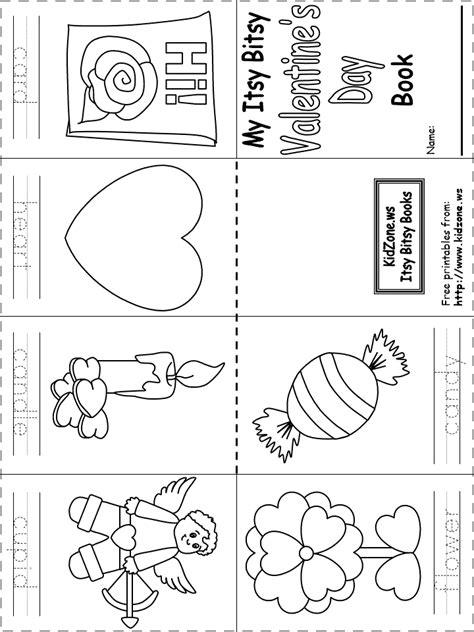 Printable Itsy Bitsy Book  Valentine's Day Httpwwwkidzonewskindergartenlearningletters