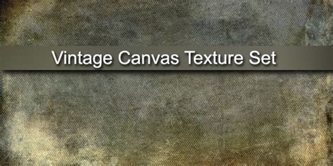 Vintage Canvas Texture Set