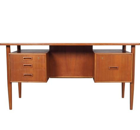 danish modern desk l danish modern floating top desk at 1stdibs