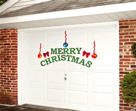 christmas garage door decor ideas home trendy