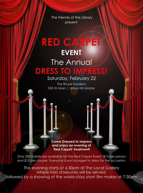 red carpet flyer red carpet party red carpet theme