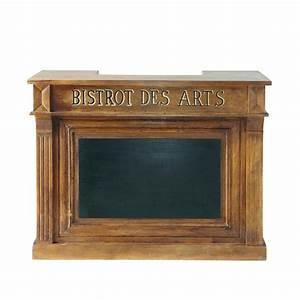 Meuble Bar Maison Du Monde : meuble de bar en manguier massif l 132 cm bistrot ~ Nature-et-papiers.com Idées de Décoration
