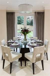 table a manger design moderne et contemporain en verre With meuble salle À manger avec petite table a manger ronde