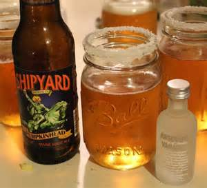 Pumpkin Whipped Cream Vodka and Beer