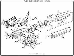 Homelite P2108 18 Volt Blower Mfg  No  107267001 Parts Diagram For General Assembly
