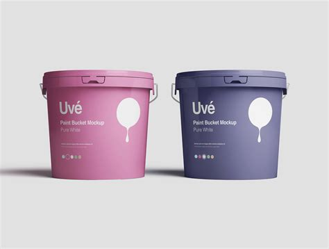Layered psd easy smart object insertion license: Paint Bucket Mockup