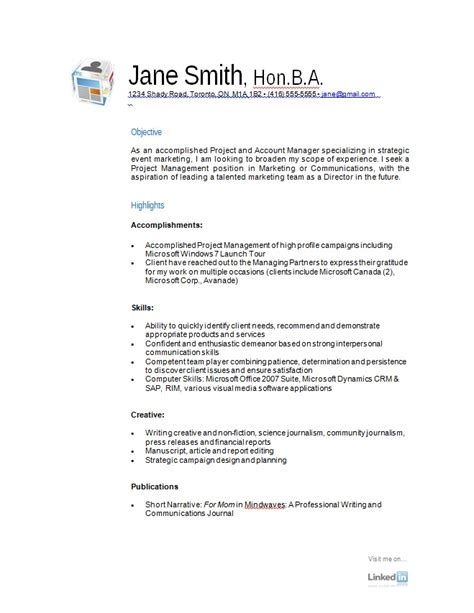 Exle Resume by Free Resume Sles A Variety Of Resumes