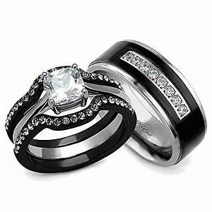 His and hers wedding ring sets couples matching rings for Wedding rings his and hers sets