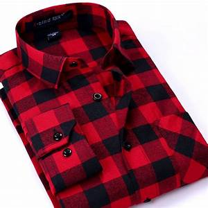 online get cheap red checkered shirt aliexpresscom With chemise a carreaux rouge et bleu homme
