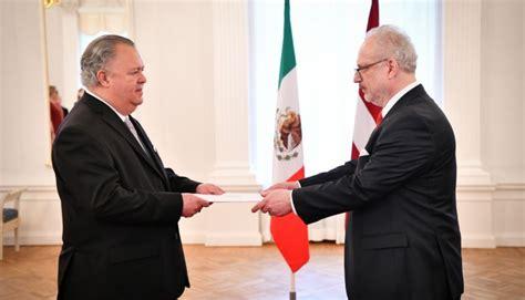 Valsts prezidents akreditē Meksikas Savienoto Valstu ...