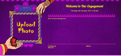 Indian engagement invitation card