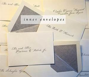 Wedding invitations no inner envelope etiquette yaseen for for Examples of wedding invitation envelopes