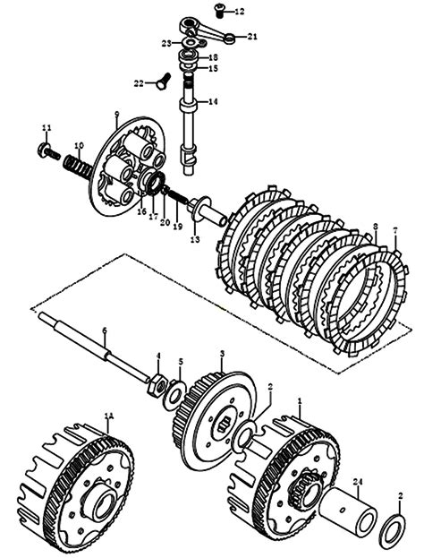 kreidler supermotoenduro  kupplung ersatzteile