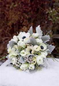 Blue Gray Silver Winter Wonderland Wedding Bouquet