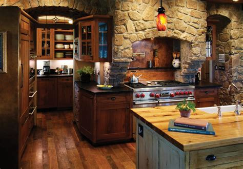 Rustic Kitchen With Rich Accents  Rustic Kitchen