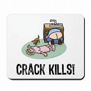 Crack kills! funny Mousepad by evilgeniusstore