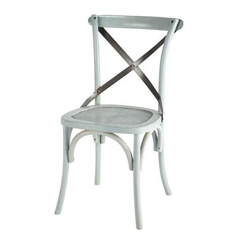 la chaise et bleue chaise en rotin et métal bleue tradition maisons du monde