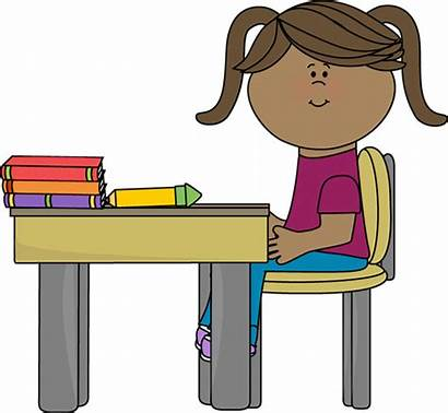 Desk Clipart Classroom Sitting Window Clip Powerpoint