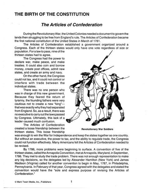 Constitution Worksheets