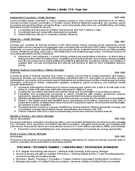 Financial Manager Resume Format by Finance Executive Resume Sles