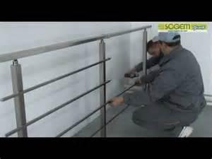 Garde Corps Escalier Interieur Pas Cher by Garde Corps En Kit Complet Square Sogem Youtube
